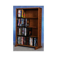 Wood Shed 24.25 in. 4 Row Dowel DVD Tower (Unfinished)