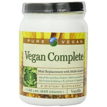 Pure Advantage Pure Vegan Vegan Completetm Meal Replace Dietary Supplement, Vanilla, 1.42 Pound