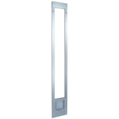 Ideal Pet 6.25 in. x 6.25 in. Small Cat Flap White Aluminum Pet Patio Door Fits 77.6 in. to 80.4 in. Standard Alum Slider