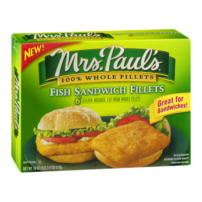 Mrs. Paul's Fish Sandwich Fillets - 6 CT