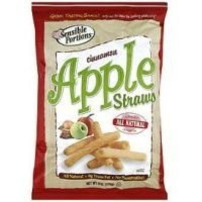 Sensible Portions Original Cinnamon Apple Straws, 6 Ounce -- 12 per case.