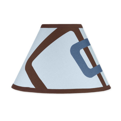Jojo Designs JoJo Designs Blue and Brown Geo Lamp Shade