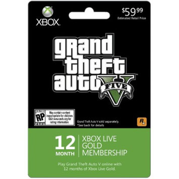 Microsoft Grand Theft Auto 5 12 Month Subscription $59.99