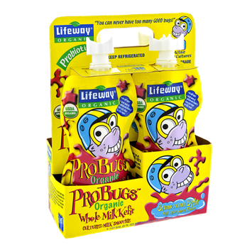 Lifeway ProBugs Organic Strawnana Split Whole Milk Kefir Smoothie - 4 CT
