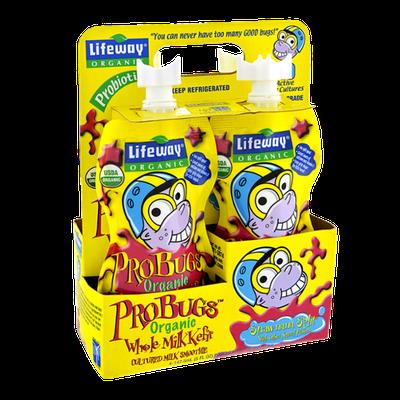 Lifeway ProBugs Organic Strawnana Split Whole Milk Kefir Smoothie - 4 CT