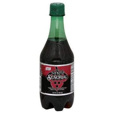 Senorial Sangria Soda (Non Alcoholic) Plastic Bottle, 16.9000-ounces (Pack of24)