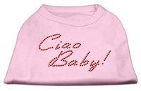 Mirage Pet Products 5220 XXXLLPK Ciao Baby Rhinestone Shirts Light Pink XXXL 20