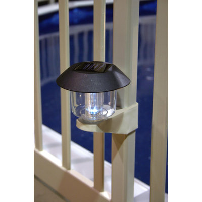 Vinyl Works Solar Light Kit for Above Ground Pool Fence (Pack of 4)
