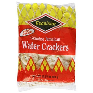 Excelsior Jamaican Water Crackers, 10.57-Ounce Packages (Pack of 10)