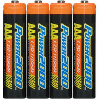 Power2000 XP4AAA-11 1150mAh NiMH AAA Rechargeable Batteries (4 Pack)