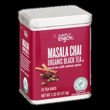 Simply Enjoy Masala Chai Organic Black Tea Bags - 15 CT