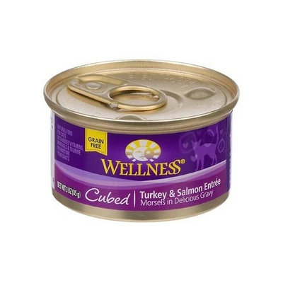 Wellness Cubed Canned Cuts Turkey & Salmon Adult Canned Cat Food