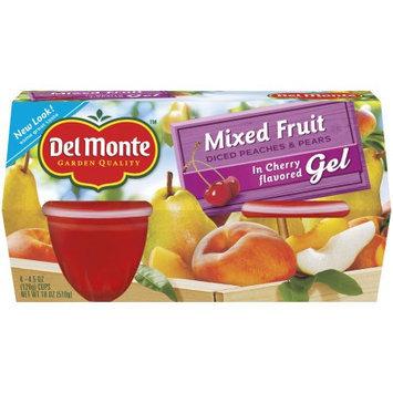 Del Monte Fruit & Gel Mixed Fruit in Cherry Gel, 18 OZ (Pack of 6)