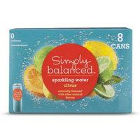 Simply Balanced Sparkling Citrus 8pk 12oz