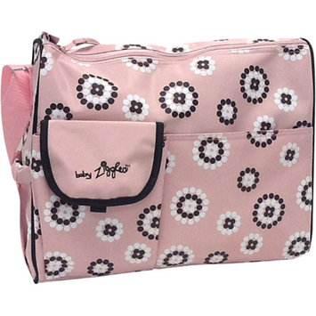 Baby Ziggles Trendy Firework Print Design Diaper Bag, Pink/Brown