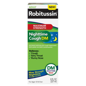 Robitussin Maximum Strength Nighttime Cough DM, 8 fl oz