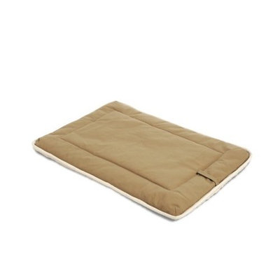 Dog Gone Smart Bed DGSCPS2104 Cotton Dog Crate Pad with Sherpa Top, Medium, Khaki