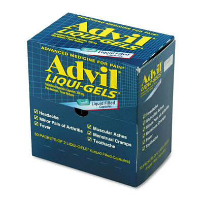 ACME Furniture Acme United Corporation 016902 Advil Liqui-Gels Single Dose Med Pack 2/PK 50PK/BX