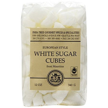 India Tree White European-Style Sugar Cubes, 12 oz Bag (Pack of 3)