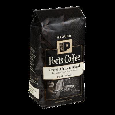 Peet's Coffee Uzuri African Blend Deep Roast Ground Coffee