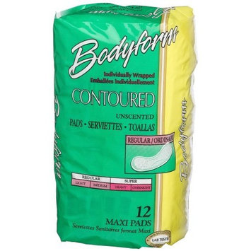 Bodyform Contoured Regular Maxi Pads, 12-Count Package (Pack of 36)