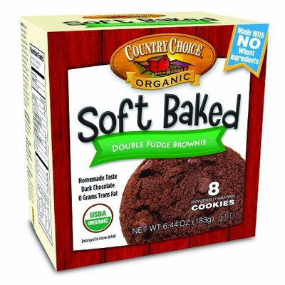 Country Choice Organic Soft Baked Cookie, Double Fudge Brownie, 6.44-Ounce Boxes (Pack of 6)