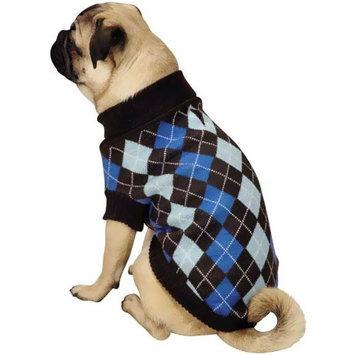 Pet Edge Dealer Services Zack and Zoey Argyle Prep Dog Sweater XXSmall