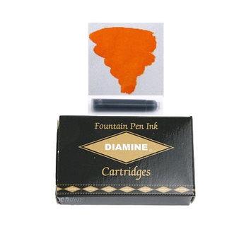 Pk/18 DIAMINE Fountain Pen Ink Cartridges, ORANGE
