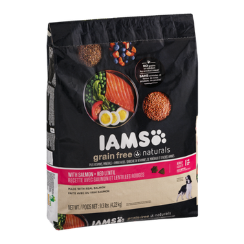 Iams Grain Free Naturals Dog Food with Salmon + Red Lentil Adult