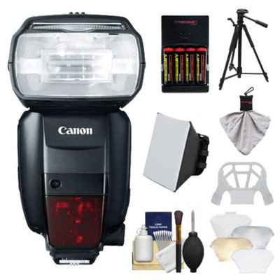 Canon Speedlite 600EX-RT Flash with Tripod + Soft Box + Diffuser + Batteries & Charger + Kit for EOS EOS 6D, 70D, 5D Mark II III, Rebel T3, T3i, T4i, T5, T5i, SL1 Cameras