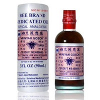Bee Brand Medicated Oil Topical Analgesic 2 0z - 30 ml Bottle