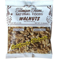 Flanigan Farms Natural Foods Walnuts, Raw, Halves & Pieces, Unsalted 2.5oz (6 Pack)
