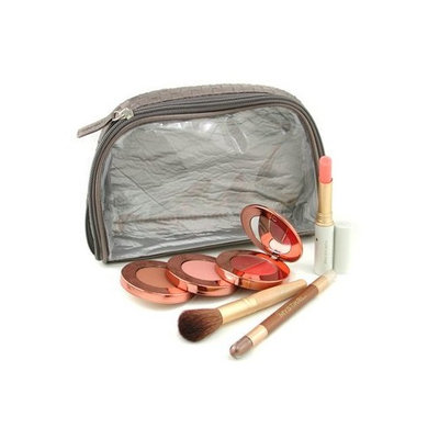 Grab & Go Just For Me MakeUp Kit ( My Steppes Makeup Kit, Mystikol, Just Kissed Lip&Cheek Stain, Brush..... ) - # Warm - Jane Iredale - MakeUp Set - Grab & Go Kit - 4pcs+1bag