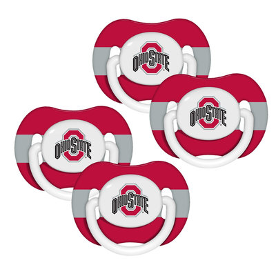 Baby Fanatic Ohio State Buckeyes NCAA 4-pack Baby Pacifiers