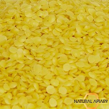 NATURAL APIARY® 100% PURE BEESWAX Pastilles - 1LB Natural Filtered Bees Wax Pellets - Modeling - Crayons - Candle Making - Furniture Polish