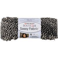 Coats & Clark Inc. Red Heart Boutique Sassy Fabric Yarn White Cheetah