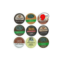 The Coffee Mix 9 Pack - Limited Edition Fall Flavors Coffee Variety Pack of K-Cups for Keurig Brewers - Pumpkin Spice, Butter Toffee, Cinnamon, French Vanilla, Mocha, Cappuccino and Hazelnut flavored- from Timothy's, Gloria Jeans, Donut House Collection, Van Houtte