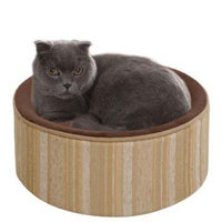 JLA Pets Soft Touch Kitty Kup with ShowOff Jacquard Exterior - 16 inches