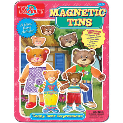 T.S. Shure Teddy Bear Expressions Magnetic Tin Play Set
