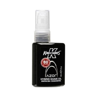 King of Shaves For Men Ultra Hybrid Shave Oil, Sensitive Skin, Cooling Menthol 2 fl oz (60 ml)