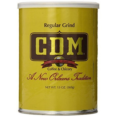 CDM Coffee & Chicory, Regular Grind, 13-Ounce Cans (Pack of 4)
