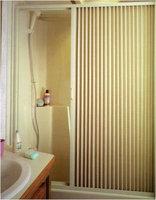 Irvine 3667SI Ivory Pleated Shower Door
