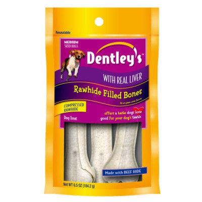 Dentley'sA Rawhide Filled Dog Bone