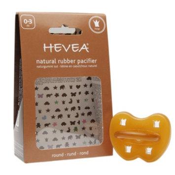 Hevea Natural Rubber Pacifier, 0-3 Months, Crown, 1 ea