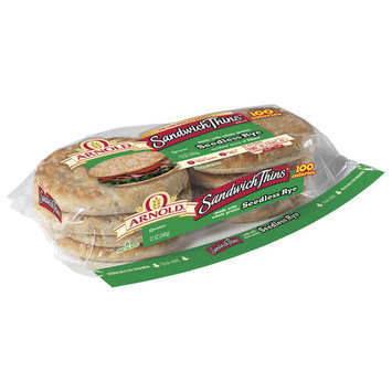 Sandwich Thins Arnold Seedless Rye Bread, 8 count