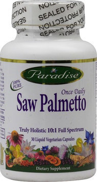 Paradise Herbs Once Daily Saw Palmetto 30 Liquid Vegetarian Capsules