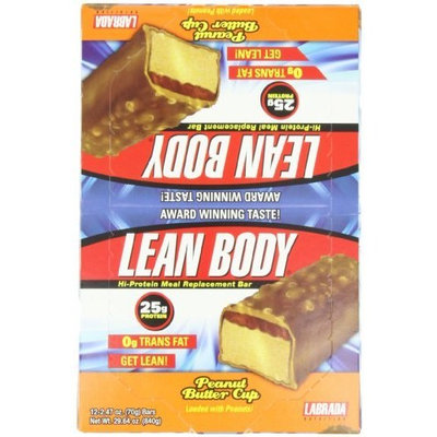 Labrada Nutrition Lean Body Bars, Peanut Butter Cup, 70-Grams (Pack of 12)