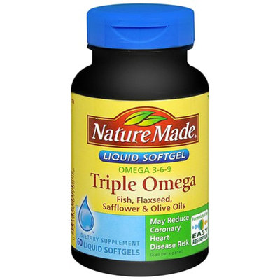Nature Made Triple Omega Dietary Supplement - 60 Softgels