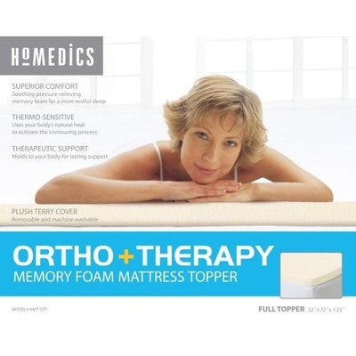 Homedics HMT-OTF Therapy Mattress Topper with 1.25