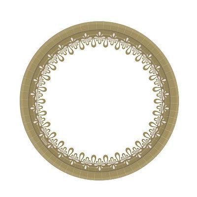 Hanna K Signature Hanna K. Signature 90774 7 in. Everyday Ensembles Precious Gold Plate - 1440 Per Case
